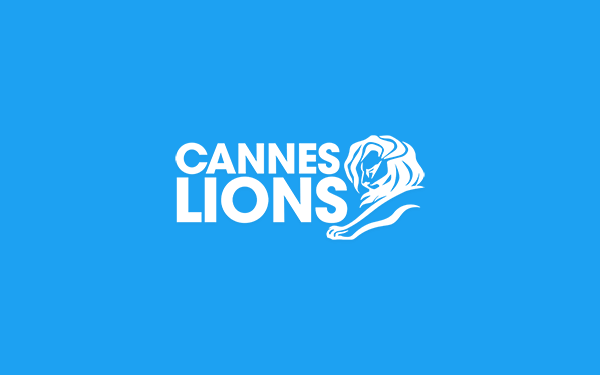 Cannes Lions logo on Twitter blue background