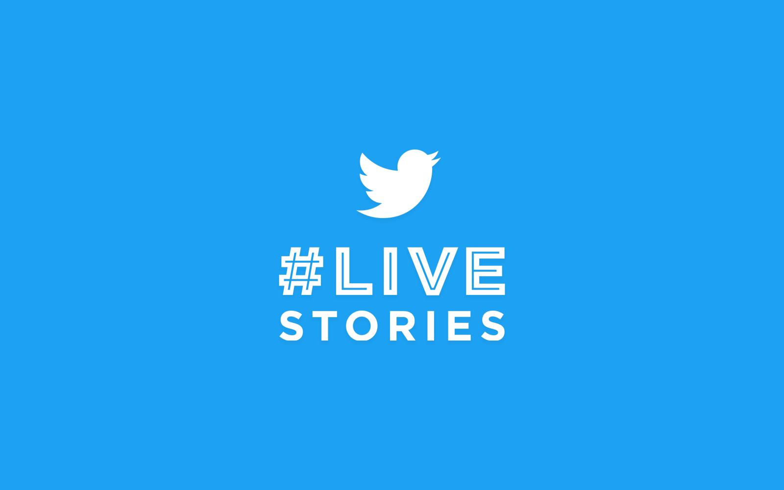 Live Stories logo on Twitter blue background