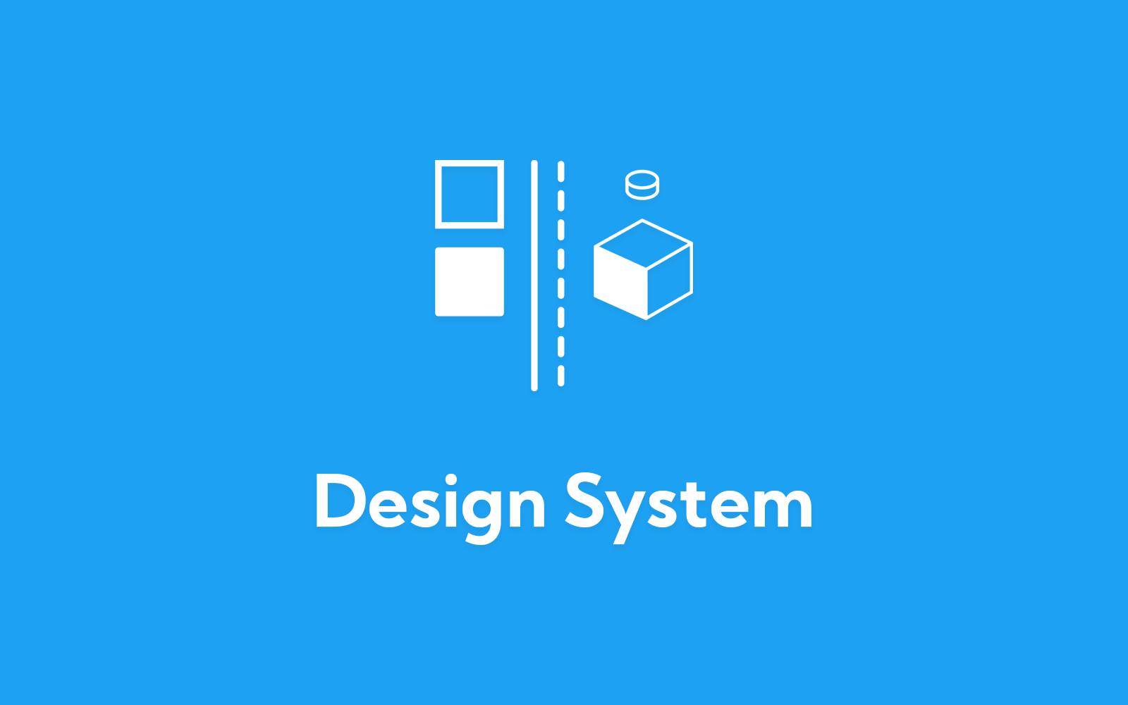 Design System icon on Twitter blue background