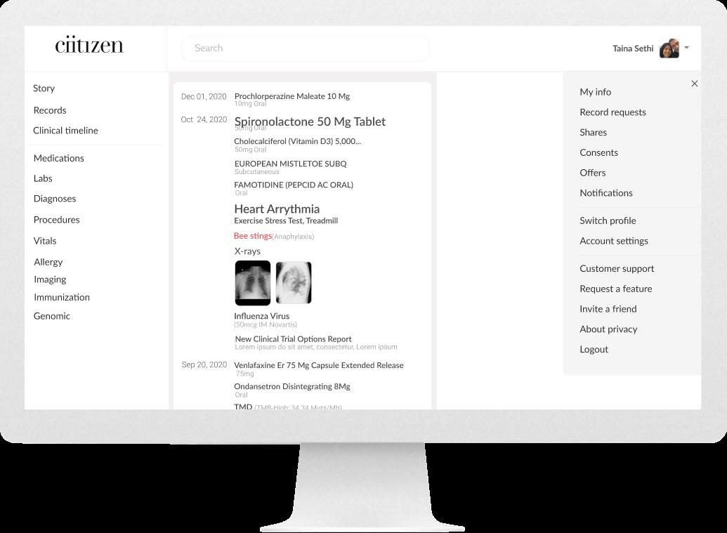 Desktop screen of administrative settings (before)