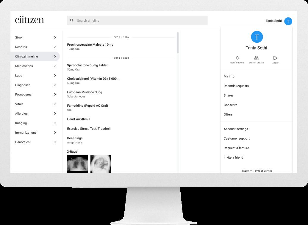 Desktop screen of administrative settings (after)