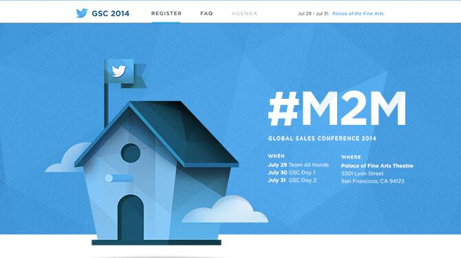 Twitter Global Sales Conference Website