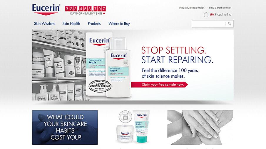 Eucerin website