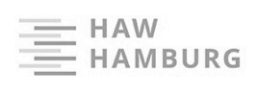 connected to world-class partners, Haw Hamburg logo on a white background