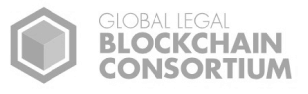 connected to world-class partners, Global Legal Blockchain Consortium logo on a white background