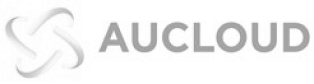 connected to world-class partners, Aucloud logo on a white background