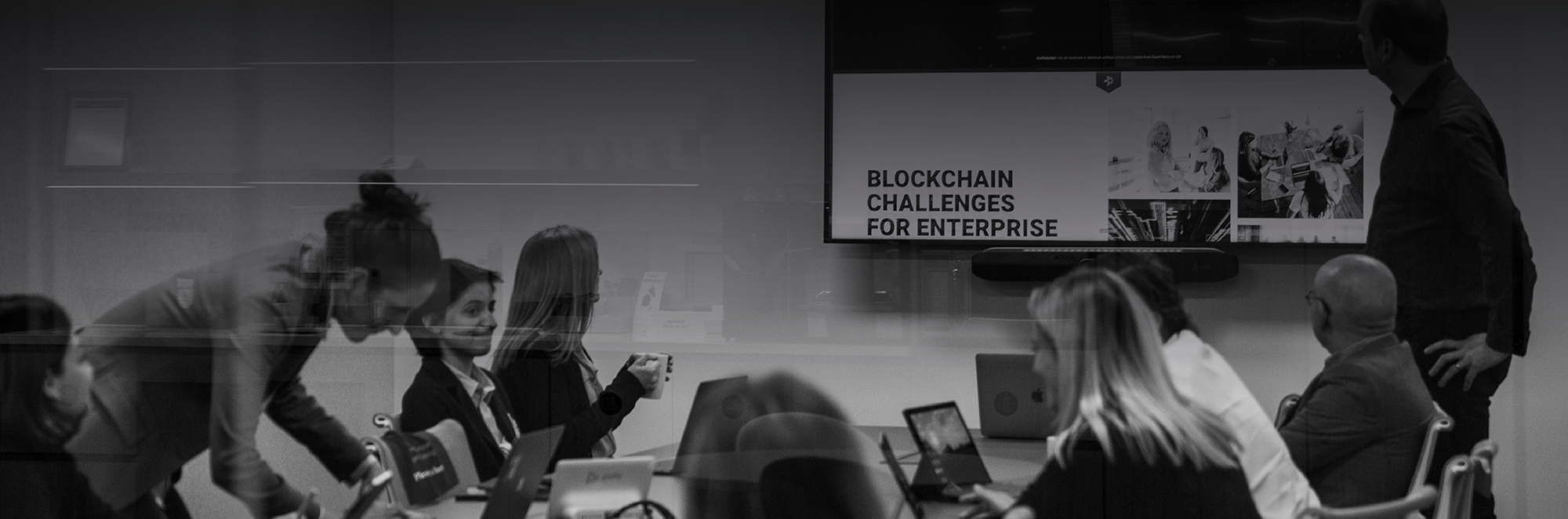 who we are, blockchain presentation by CPO in meeting room 8