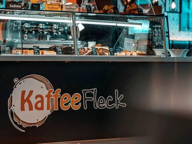 Theke des Kaffeefleck