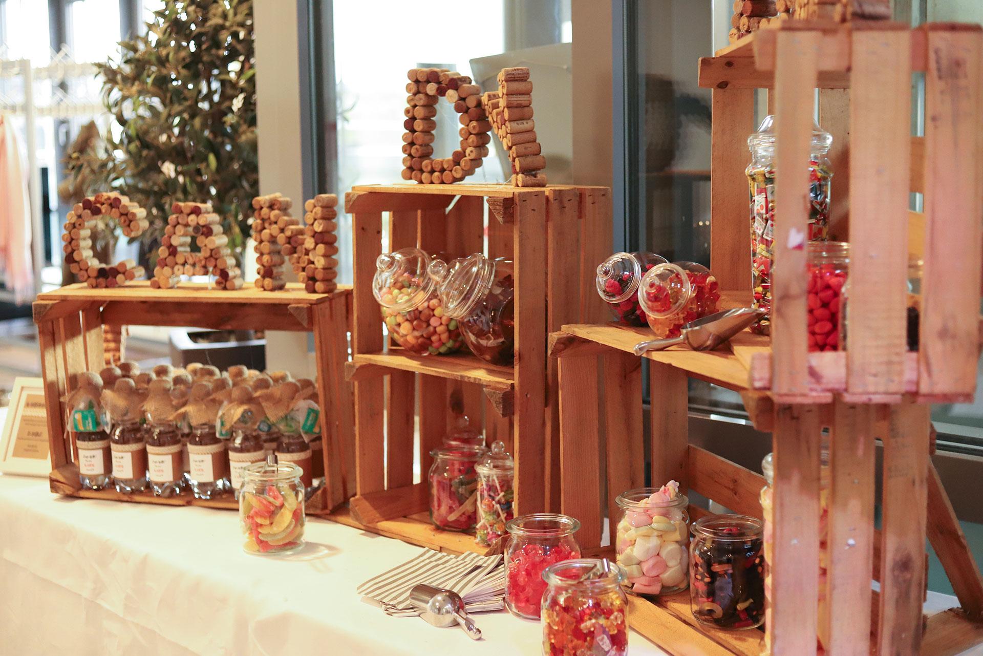 Candy Bar auf einer Hochzeit im forum M