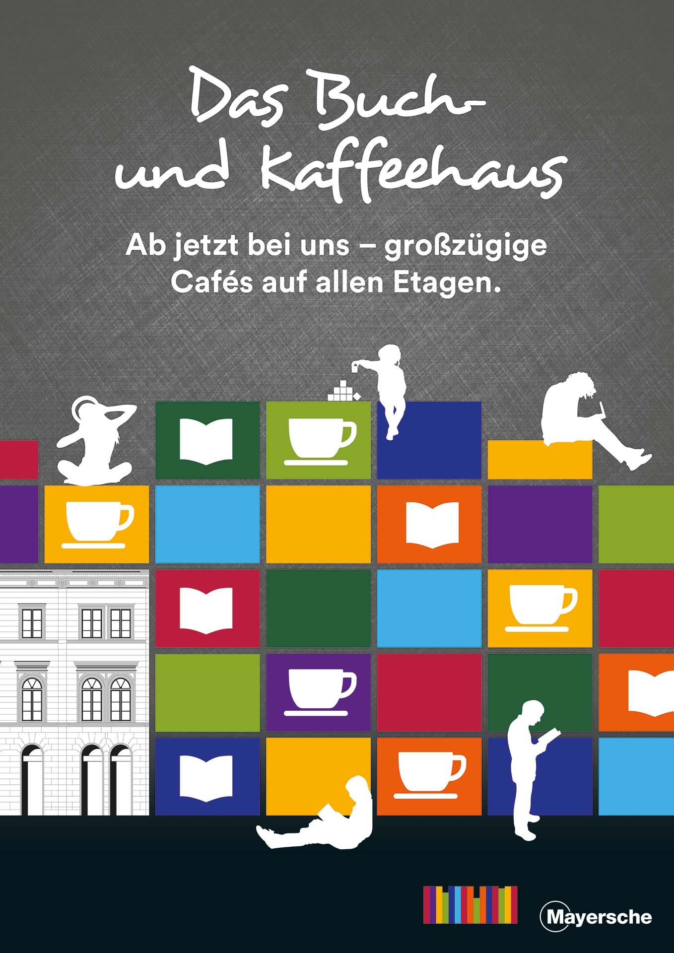 Poster der Kampagne für das Aachener Buch- und Kaffeehaus