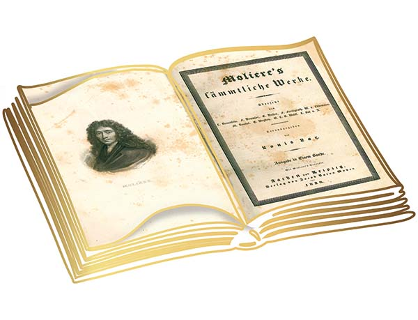 Deutsche Erstausgabe von Molières sämtlichen Werken