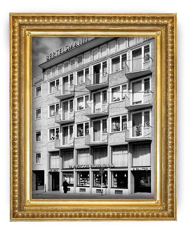 Alte Außenansicht der Mayerschen Buchhandlung Aachen