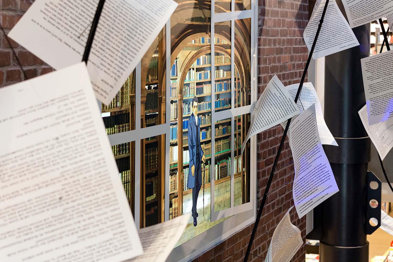Aufgang Mayersche Buchhandlung Aachen