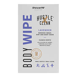 Hustle Clean body wipes, lavendar. Buy now at Walmart