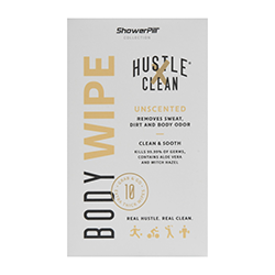 Hustle Clean body wipes, unscented. Buy now at Walmart