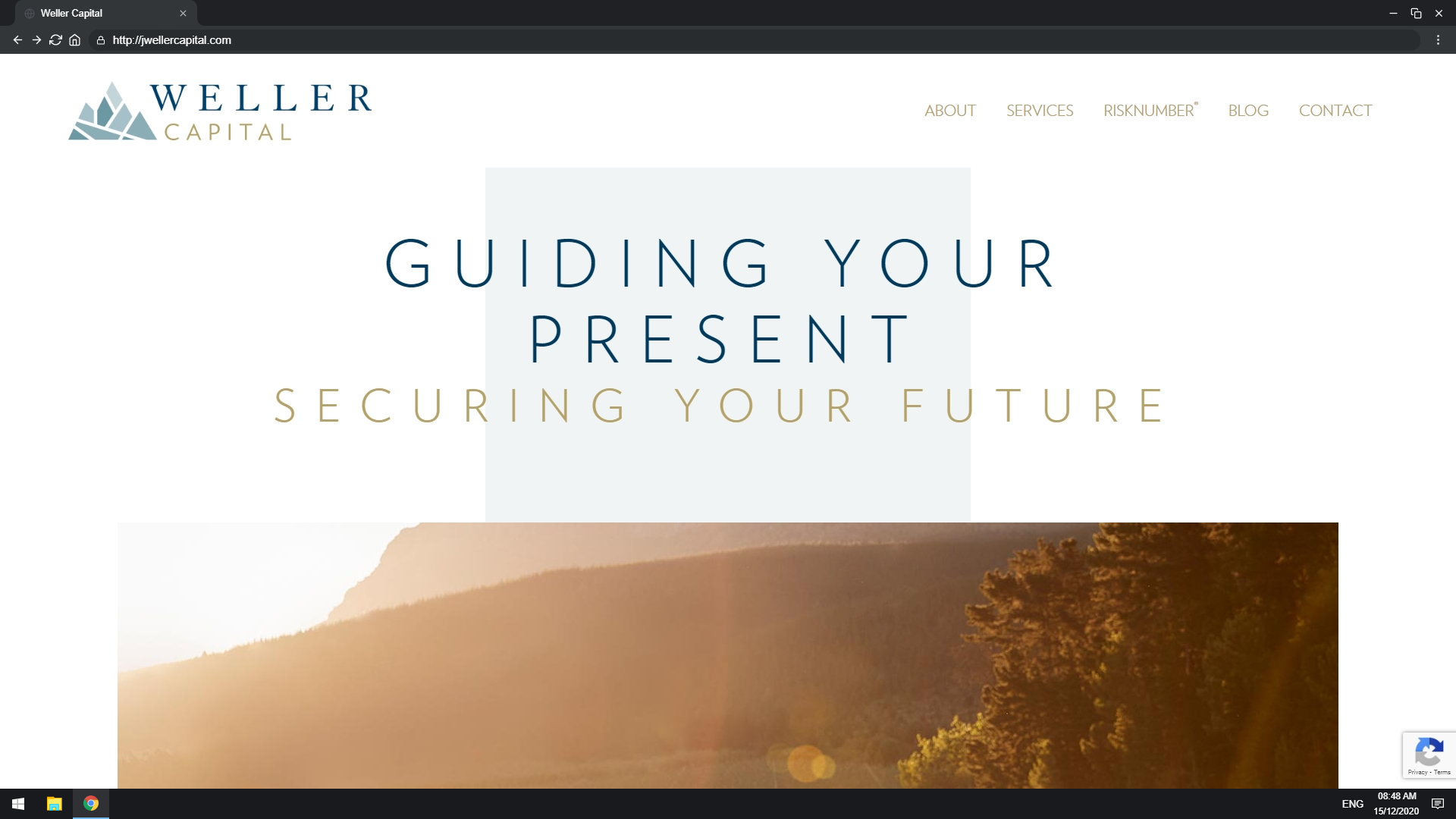Mockup of Weller Capital website