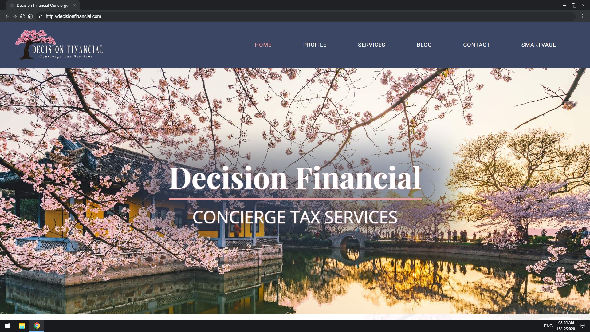 Mockup of Decision Financial Website