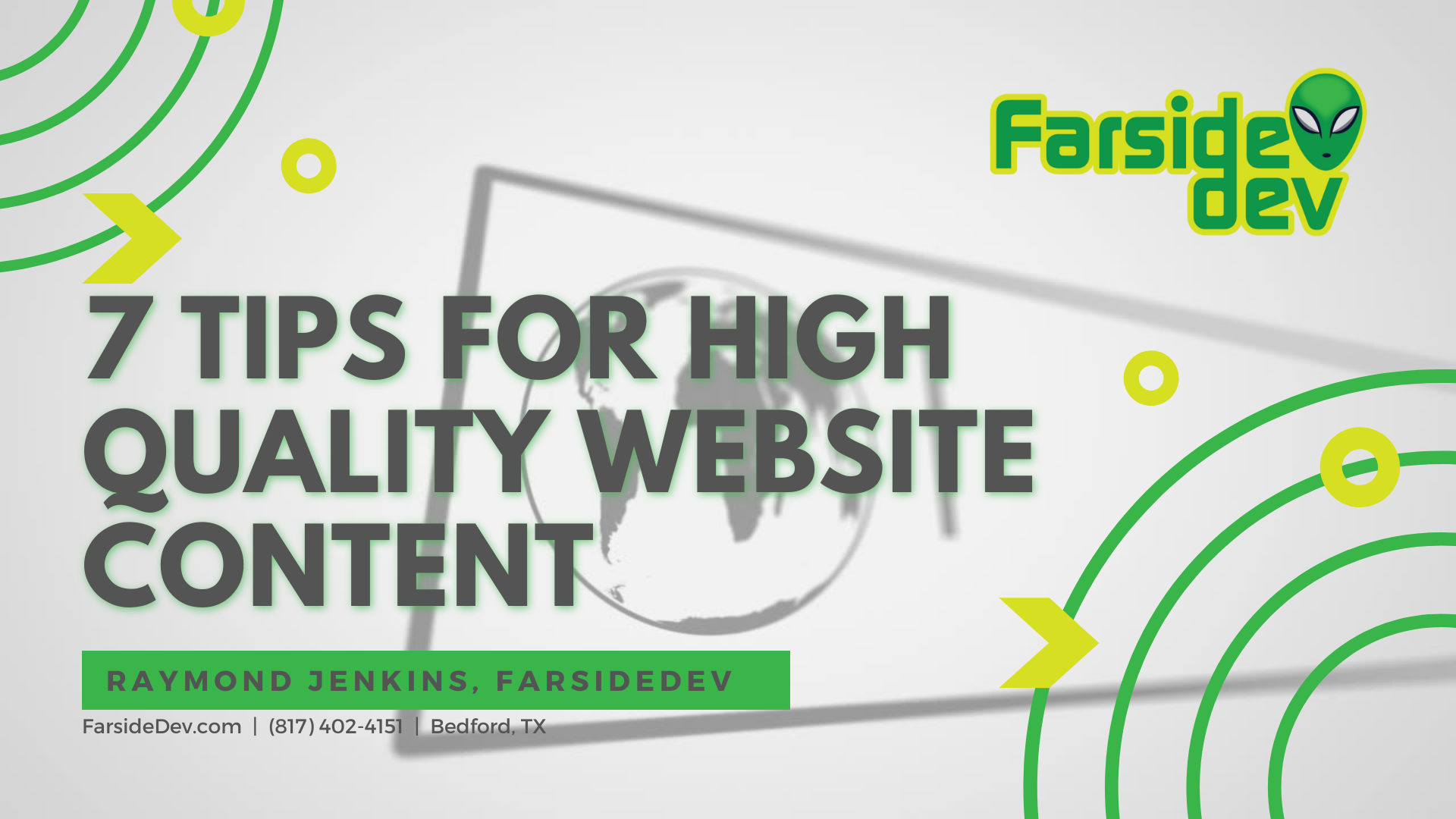 7 Tips for Adding High Quality Content to your Website