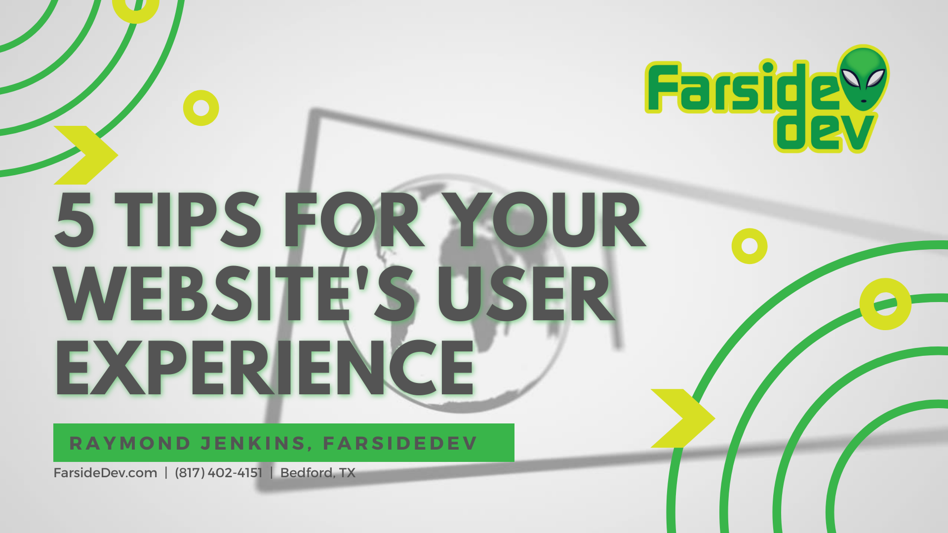 5 Tips to a better website user experience design