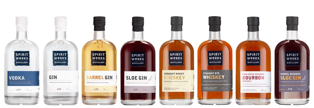 Bottle Line Up | Spirit Works Distillery