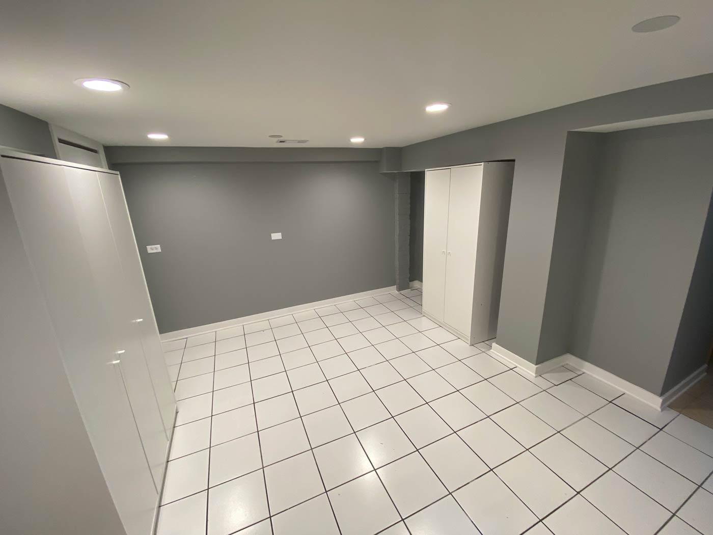 Basement renovation in Mount Prospect