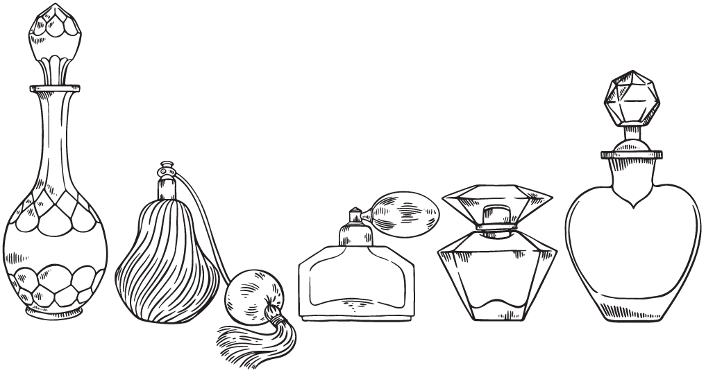 Old Perfume Bottles Drawing