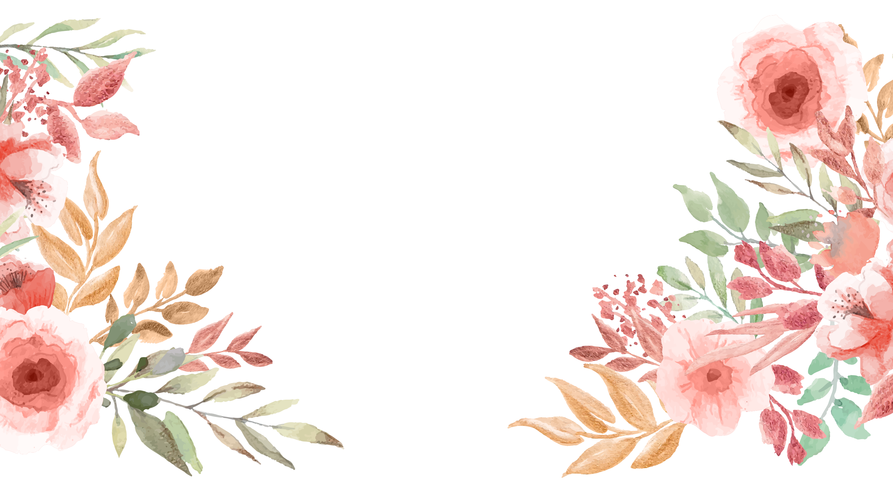 Watercolor Florals for Bottom