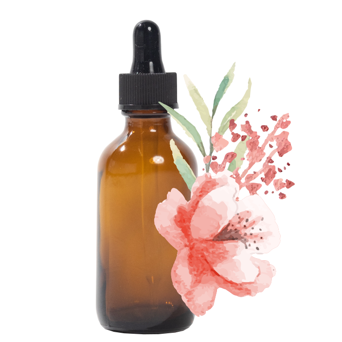 Tincture Bottle with Floral