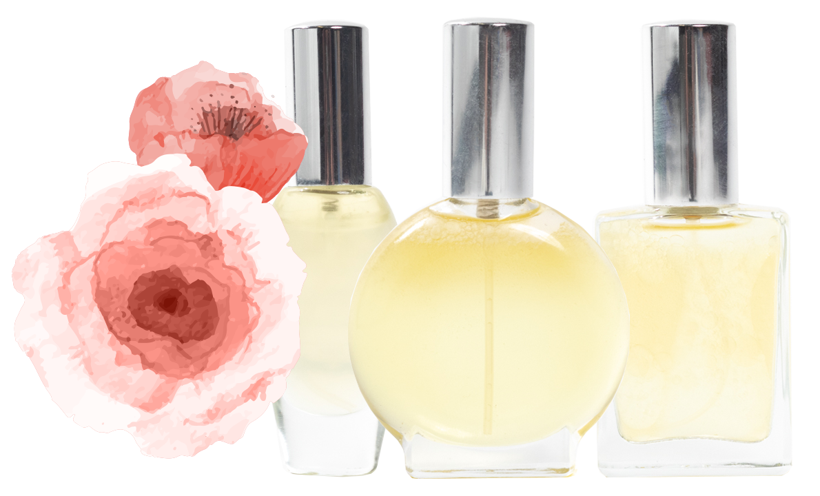Perfume Bottles with Floral