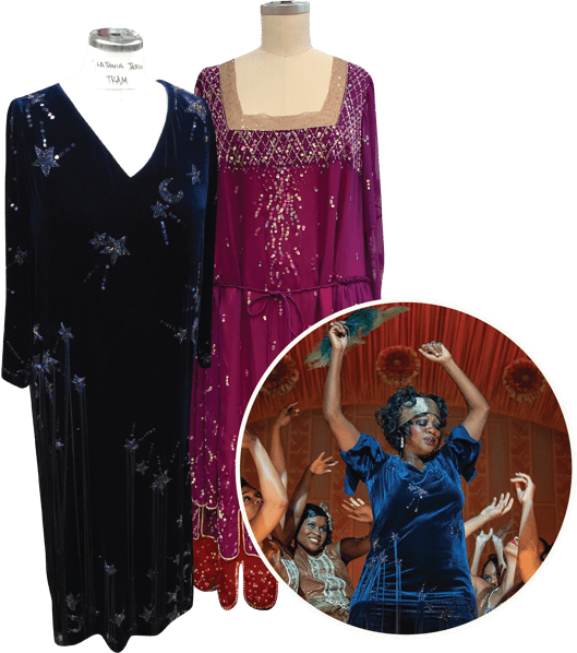 It was all about the period details in the vintage-looking dresses we made for Ma Rainey's Black Bottom.