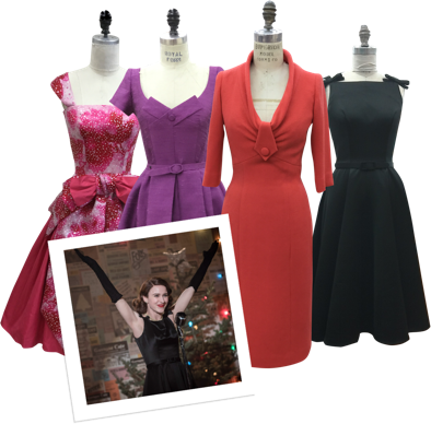 The glamour of the 50s is embodied in the custom dresses and coats we've made for Marvelous Mrs. Maisel.