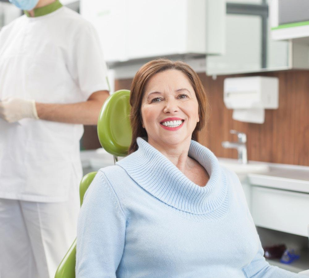 Happy Patient at Dental Clinic