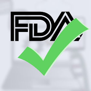 FDA logo with a green check mark