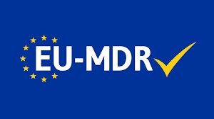 EU MDR with a yellow check mark logo