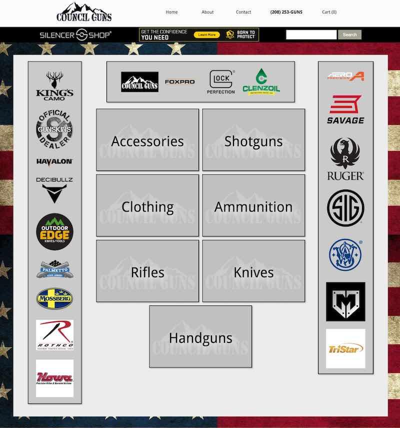Screenshot of councilguns.com
