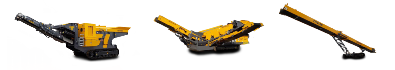 破碎机,筛分机和输送机