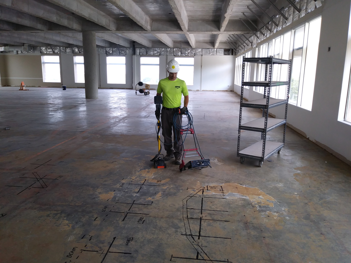 Concrete Imaging Technology Used To Locate Obstructions Embedded In A Concrete Slab – Arizona