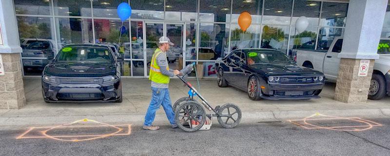 Private Utility Locating at Car Dealership - Colorado