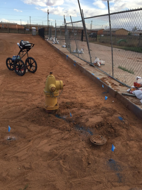 Gas & Water Lines At Rock Point – Arizona