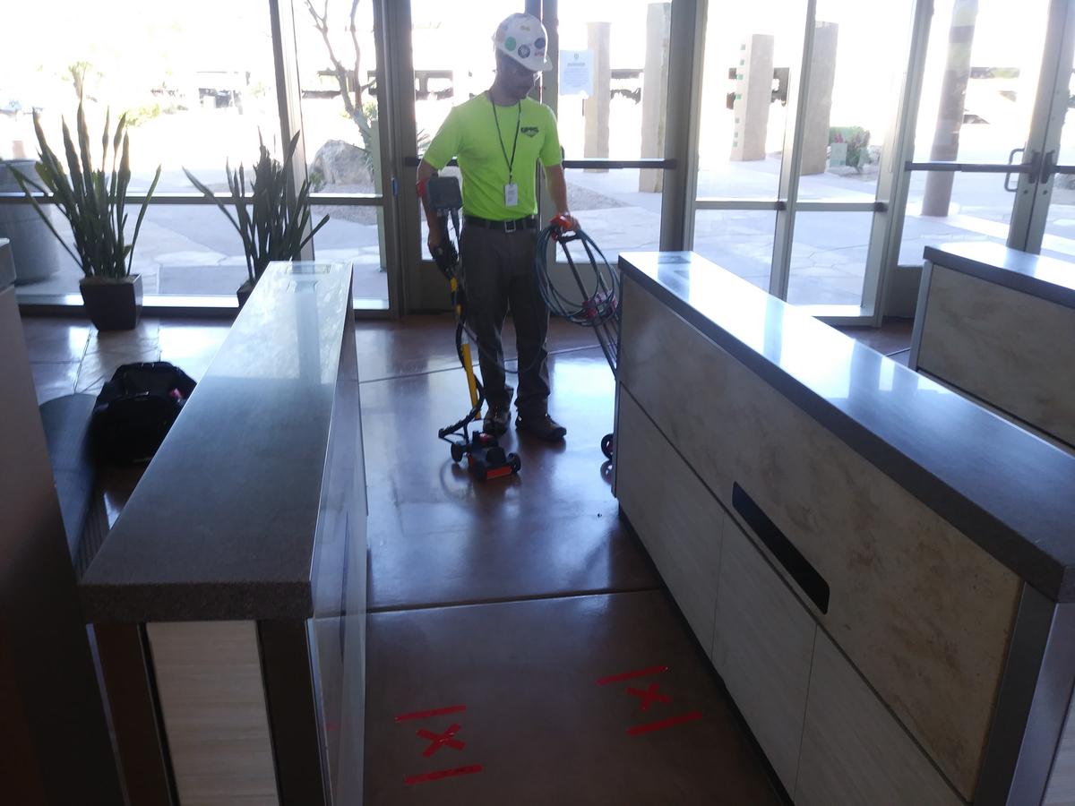 Radar Technology Used To Locate Conduits Inside A Corporate Facility – Arizona