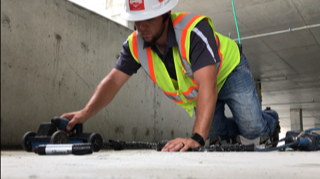Locating Everything In A Concrete Slab At A Parking Garage in West Palm Beach – Florida