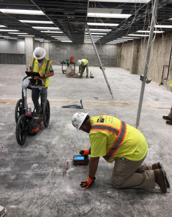 Locating The Path Of Radiant Heat Tubes In A Concrete Slab At A Residence – Massachusetts