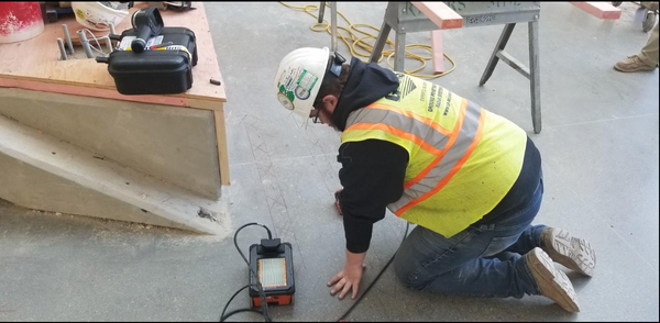 GPRS scans for conduits and radiant heating before core drilling in Cincinnati, Ohio