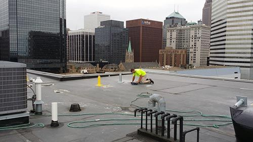 Concrete Scanning to Locate Post Tension Cables on Rooftop Cincinnati OH