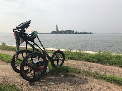 Ground Penetrating Radar on Ellis Island