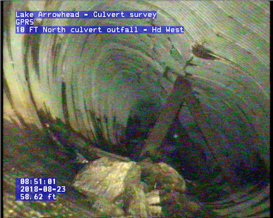 10FT Corrugated Culvert Nearing a Collapsing Point Image