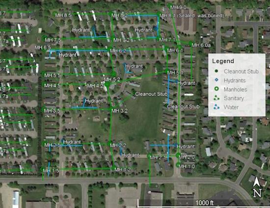 Buffalo Manor West & East Map Image