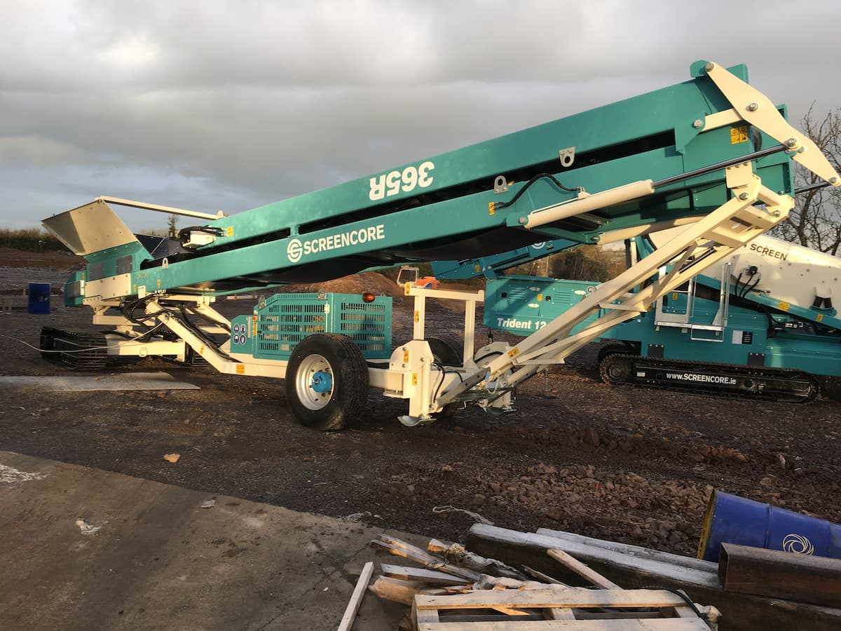 screencore conveyor on a building site
