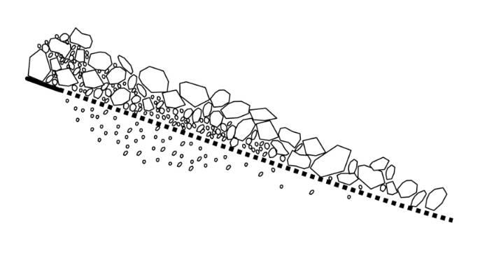 Diagram of scalper screening rock material black and white