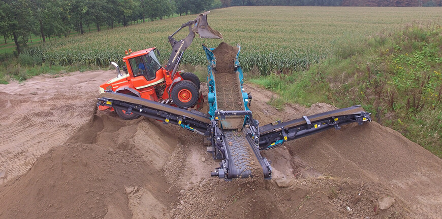 scalping screen screening topsoil